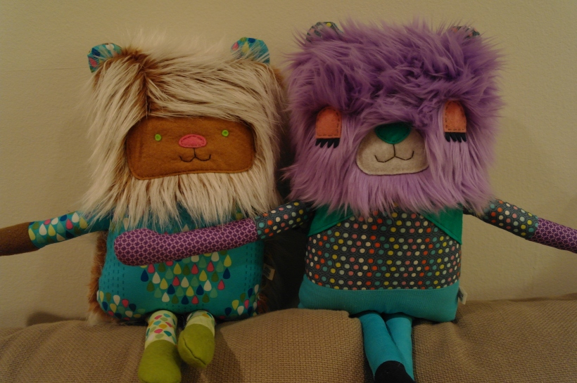 purple bear and hoglet 19 inches 001