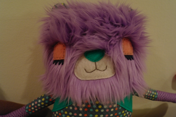 purple bear and hoglet 19 inches 003