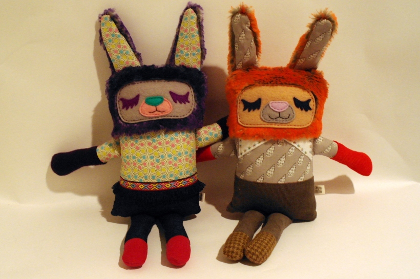 orange and purple bunny