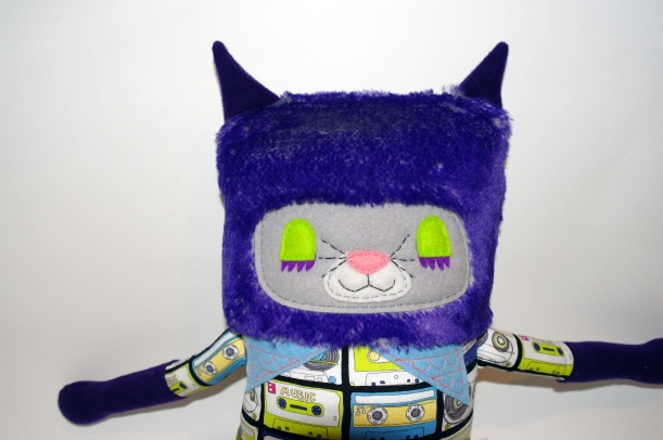 purple cat close up