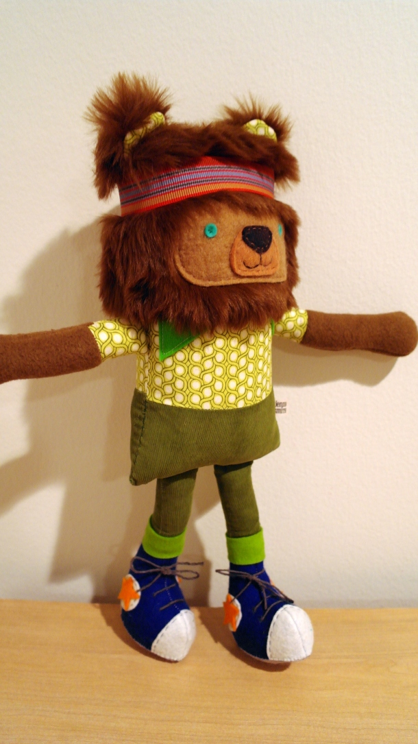 lightened standing bear