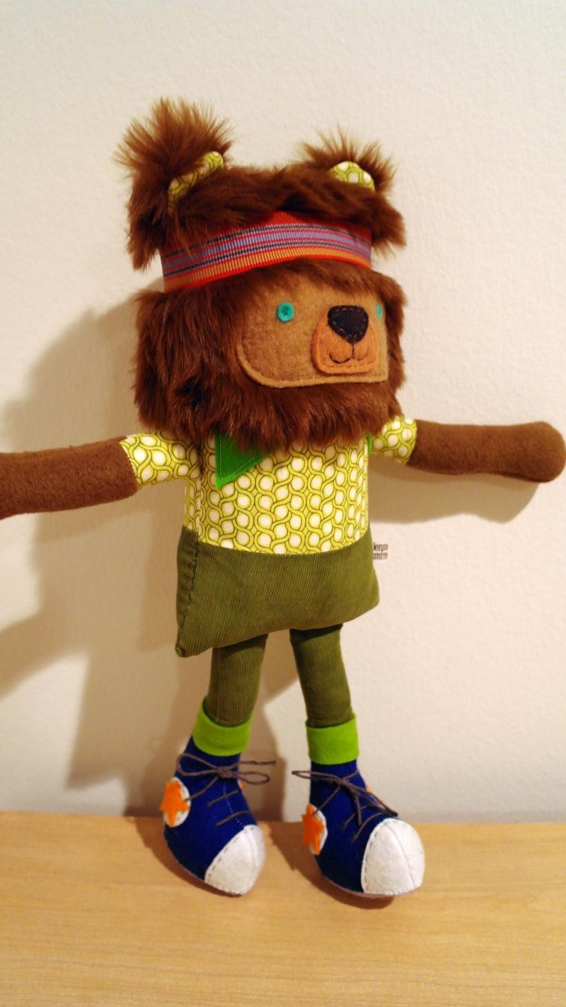 lightened standing bear