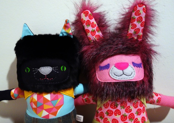 black cat and pink bunny 2014 01