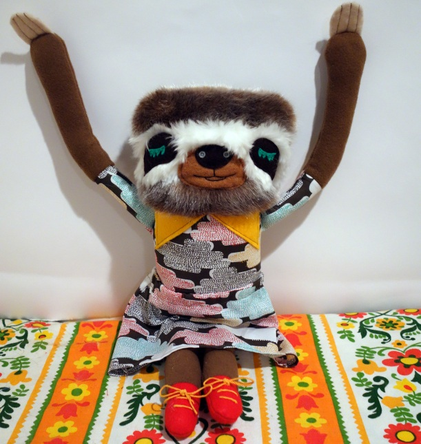 Sloth Arms up 1 2014